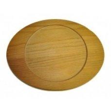 Деревянная овальная подставка для сковороды-мини 23,5*18,5см