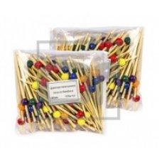Пики деревянные Цветная жемчужина 100 штук (L=9cм), Артикул: 53700, Производитель: