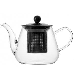 Чайник из боросиликатного стекла с фильтром 400мл, Артикул: 1969, Производитель: MGSteel (Китай)