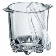 Емкость для льда с щипцами Полька Borgonovo 0,87л
