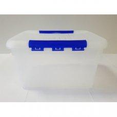 Контейнер для продуктов прямоугольный с синим зажимом MG 8л (30*23*16см), Артикул: 1719, Производитель: Мастергласс (Россия)
