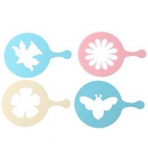 Декоратор для капучино и пирожных Candy (набор из 4 штук), Артикул: 27131, Производитель: Fackelmann (Германия)