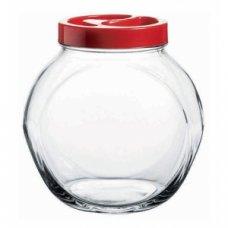 Банка для сыпучих продуктов с красной крышкой Белла Pasabahce 1500мл, Артикул: 80000Т, Производитель: Pasabahce (Турция)
