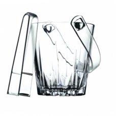 Емкость для льда с щипцами Карат Pasabahce d=13см, Артикул: 53588, Производитель: Pasabahce-завод Бор (Россия)