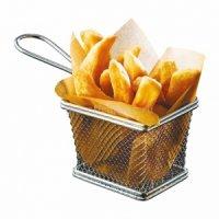 Корзинка для картофеля фри нержавеющая 125*100*85мм