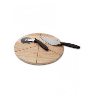 Доска для подачи пиццы из бука на 6 сегментов d=300мм, h=22мм, Артикул: 57155, Производитель: Россия