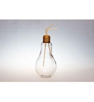 Банка для коктейля c крышкой Лампа 850мл, Артикул: 81200120, Производитель: Китай