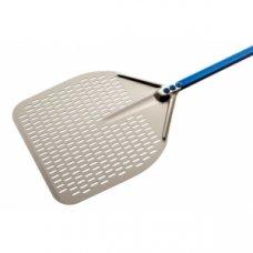 Лопата для пиццы перфорированная Azzurra Gimetal 33*33см, L=120см, Артикул: A-32RF/120, Производитель: GI.METAL (Италия)