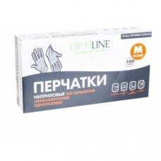 Перчатки одноразовые нитриловые черные Optiline M (50 пар), Артикул: 27-8057, Производитель: ОптиЛайн (Россия)