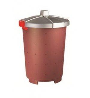 Бак пищевой полипропиленовый бордовый 45л, 42*57см, Артикул: 432106121, Производитель: Рестола (Россия)