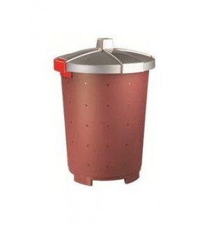 Бак пищевой полипропиленовый бордовый 25л, 33,5*44см, Артикул: 432106021, Производитель: Рестола (Россия)