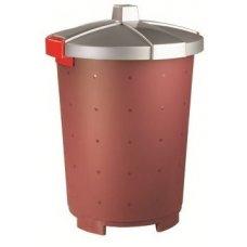 Бак пищевой полипропиленовый бордовый 65л, 47*66см, Артикул: 432106221, Производитель: Рестола (Россия)