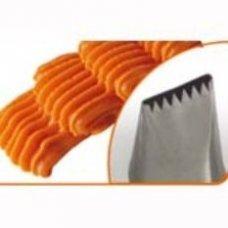 Насадка кондитерская нержавеющая Зубчатая лента 28*4мм, Артикул: BD 302, Производитель: Martellato (Италия)
