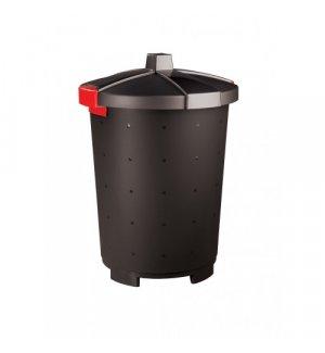 Бак для мусора полипропиленовый черный 45л, 42*57см, Артикул: 431253613, Производитель: Рестола (Россия)
