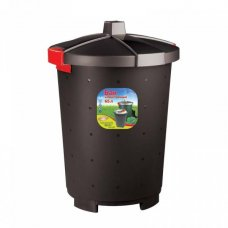 Бак для мусора полипропиленовый черный 65л, 47*66см