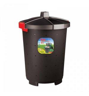Бак для мусора полипропиленовый черный 65л, 47*66см, Артикул: 431253713, Производитель: Рестола (Россия)