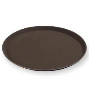 Поднос прорезиненный коричневый MG d=35см, Артикул: 1400CTBr, Производитель: MGSteel (Китай)