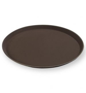 Поднос прорезиненный коричневый из стеклопластика MG d=35см, Артикул: 1400CTBr/GF, Производитель: MGSteel (Китай)