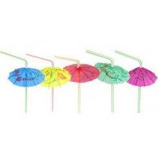 Трубочки коктейльные Зонтик 50 штук (0,5*24см), Артикул: 42541, Производитель: