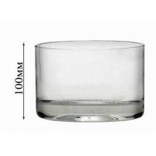Стеклянная ваза для цветов Неман d=117мм, h=100мм