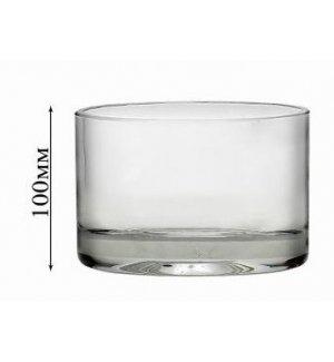 Стеклянная ваза для цветов Неман d=117мм, h=100мм, Артикул: 7017, Производитель: Неман (Беларусь)