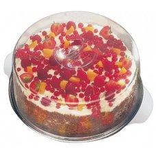 Блюдо для торта нержавеющее с 2-мя крышками APS d=30см