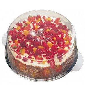 Блюдо для торта нержавеющее с 2-мя крышками APS d=30см, Артикул: 652, Производитель: APS (Германия)