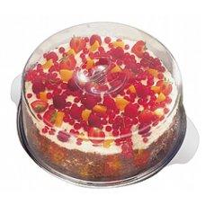 Блюдо для торта нержавеющая с крышкой APS d=30см