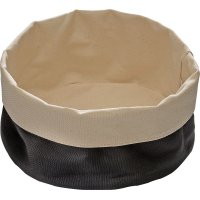 Корзина для хлеба бежево-черная из хлопка APS 20*9см