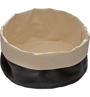 Корзина для хлеба бежево-черная из хлопка APS 20*9см, Артикул: 30351, Производитель: APS (Германия)
