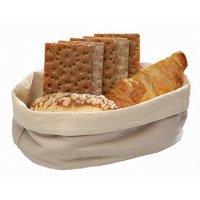 Корзина для хлеба бежевая из хлопка APS 20*15*7см