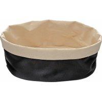 Корзина для хлеба бежево-черная из хлопка APS 25*18*9см