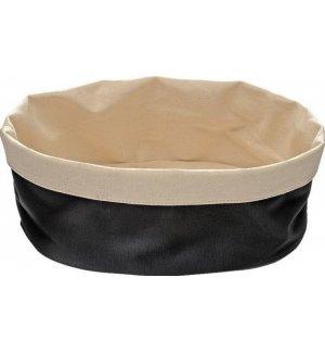 Корзина для хлеба бежево-черная из хлопка APS 20*15*7см, Артикул: 30361, Производитель: APS (Германия)