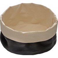 Корзина для хлеба бежево-черная из хлопка APS 17*8см