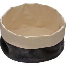 Корзина для хлеба бежево-черная из хлопка APS 17*8см, Артикул: 30341, Производитель: APS (Германия)