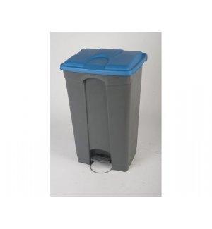 Бак для мусора с педалью и на колесах, серый с голубой крышкой Probbax 90л, Артикул: SO-1290-GRY+BLU, Производитель: Probbax (США)