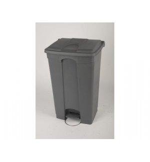 Бак для мусора с педалью и на колесах, серый с серой крышкой Probbax 90л, Артикул: SO-1290-GRY+GRY, Производитель: Probbax (США)