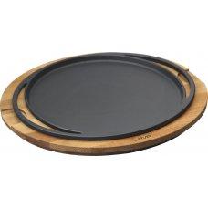 Сковорода чугунная на деревянной подставке LAVA d=28см, Артикул: LV ECO Y PZ 28 K4, Производитель: LAVA (Турция)