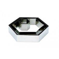 Форма для выкладки и выпечки Шестиугольник MGSteel h=25,5см, d=23,5см, Артикул: CRHN4, Производитель: MGSteel (Индия)