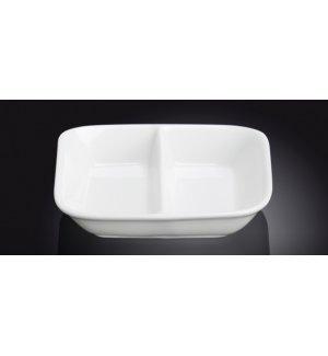 Блюдце для соуса с двумя отделениями Wilmax 85*85мм, 55мл, Артикул: 996050, Производитель: Wilmax (Англия)