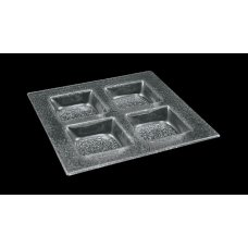 Блюдо 4-х cекционное 3D GLASSWARE 300*300мм, Артикул: 3030-4015-24-003, Производитель: 3D Glassware (Турция)