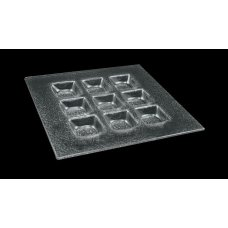 Тарелка 9-ти секционная 3D GLASSWARE 200*200мм