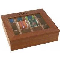 Деревянный контейнер для пакетиков чая APS 12 отделений (коричневый)