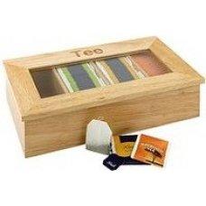 Деревянный контейнер для пакетиков чая APS 4 отделения (бежевый), Артикул: 11575, Производитель: APS (Германия)