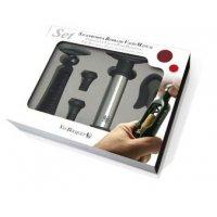 Набор для вина из 5 предметов: штопор, обрезатель фольги, помпа и 2 вакуумные пробки VB