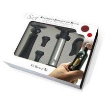 Набор для вина из 5 предметов: штопор, обрезатель фольги, помпа и 2 вакуумные пробки VB, Артикул: FI 003 SET, Производитель: Vin Bouquet (Испания)