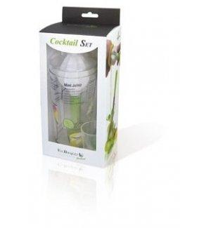 Барный набор из 4-х предметов: шейкер, мадлер, пресс для цитрусовых, мерный стакан от VB, Артикул: FIK 003 SET, Производитель: Vin Bouquet (Испания)