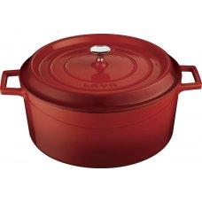 Кастрюля чугунная LAVA 1л (d=16см) красная, Артикул: LV Y TC 16 K2 RED, Производитель: LAVA (Турция)