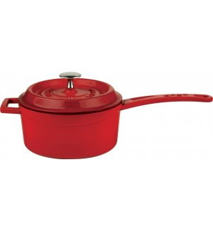 Сотейник чугунный LAVA 1л (d=16см) красный, Артикул: LV Y SOS 16 K2 RED, Производитель: LAVA (Турция)