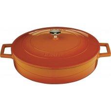 Кастрюля чугунная низкая FOLK LAVA 2,4л (d=24см) оранжевая, Артикул: LV Y ST 24 K1 ORANGE, Производитель: LAVA (Турция)